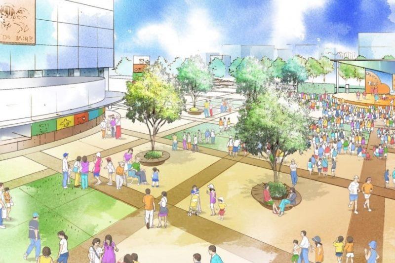 交流拠点としての駅北側イメージ(「金山駅周辺まちづくり構想」より転載)