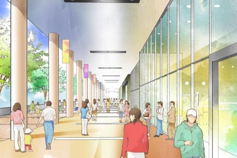 広幅員、高品質の歩行者空間イメージ(「金山駅周辺まちづくり構想」より転載)
