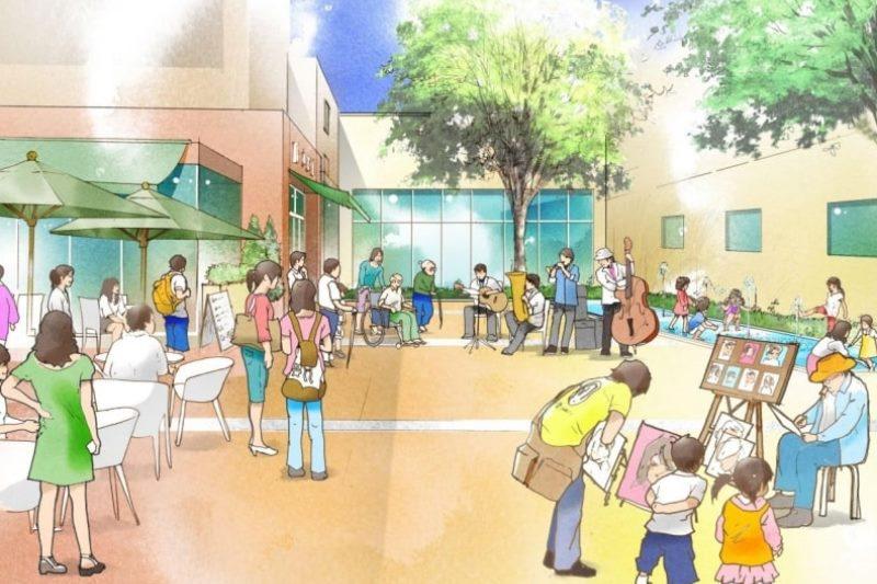 様々な文化・芸術活動が展開されるイメージ(「金山駅周辺まちづくり構想」より転載)