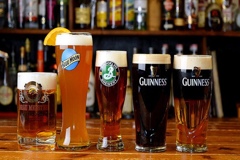 世界のビールも楽しめる