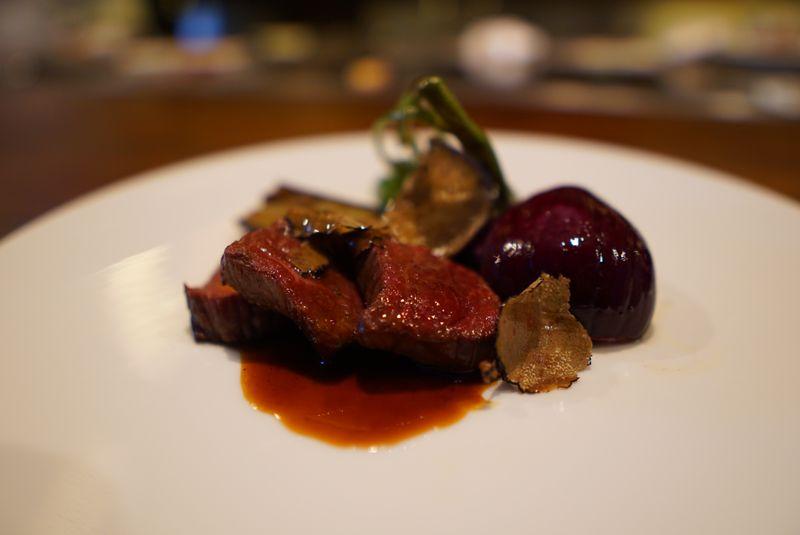 豊田の黒毛和牛を使った絶品料理「ゆたか牛ランプステーキ」
