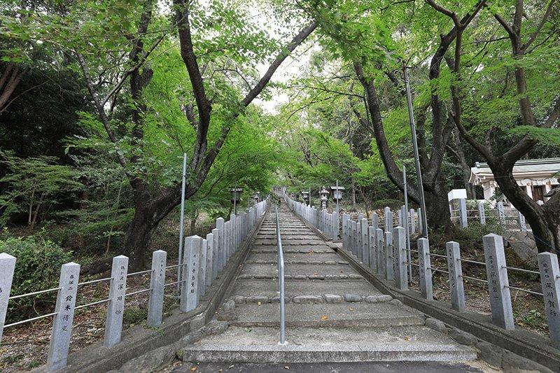 桜並木が美しい「熊野社」